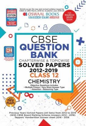 Oswaal Cbse Question Bank Class 12 Chemistry Chapterwise & Topicwise