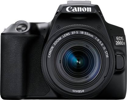 Canon EOS 200D II DSLR Camera Body with Single Lens 18 - 55 mm f/4 - 5.6 IS STM  (Black) thumbnail
