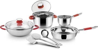 Ideale Italian Passion encapsulated 9 Pcs Induction Bottom Cookware Set