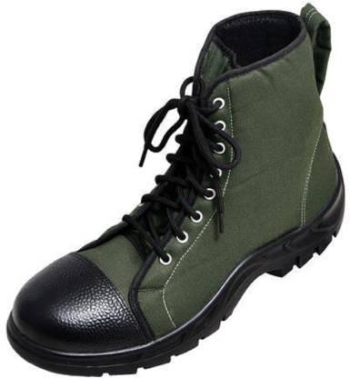 Men's olive green Ankle Boots Boat Shoes For Men(Olive)