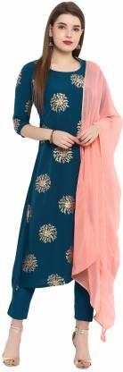 Janasya Women Kurta and Pant Set