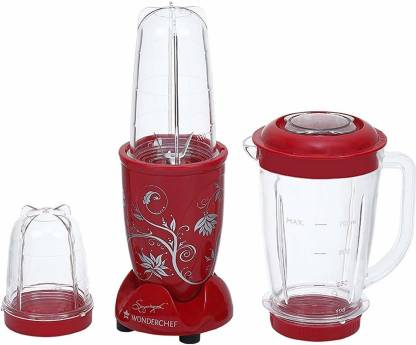 WONDERCHEF Nutriblend 400W Presents Nutri-Blend 400-Watt Mixer Grinder with 3 Jars (Red) 400 W Juicer Mixer Grinder (3 Jars, Red)