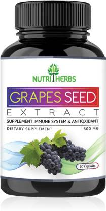 Nutriherbs Grapes Seed Extract Support Immune System & Antioxidant Supplement 90 Capsules