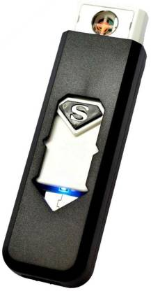 Techobucks Flameless Lighter Electronic Portable Rechargeable Eco Friendly USB Lighter Xt20 Cigarette Lighter