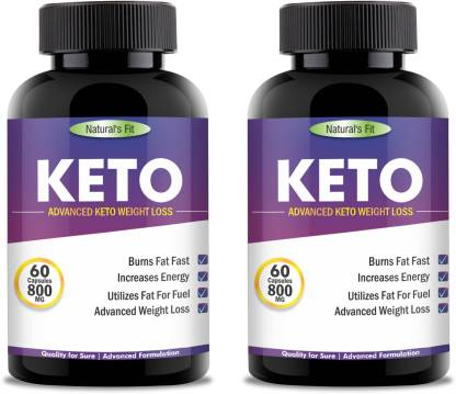 Naturals Fit KETO Advanced Weight Loss Capsules Supplement Extract 800mg PACK OF 2