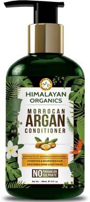 Himalayan Organics Moroccan Argan Conditioner for Hair Repair & Shine - 300ml - No Parabean & Sulfate