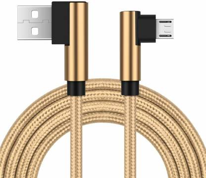 RHONNIUM ™ Double L Cable Micro USB Android,Right Angle 2.4 A 1.2 m Micro USB Cable
