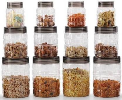 Capital Tea Coffee & Sugar Container, Spice Container, Pickle Container 12 Piece Spice Set