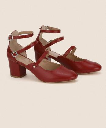 French Connection Women Maroon Heels