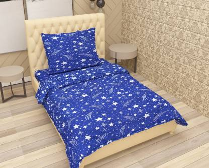 Achintya 144 TC Polycotton Single Printed Bedsheet