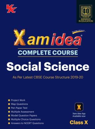 Xam Idea Complete Course Social Science for Cbse Class 10 - 2020 Exam