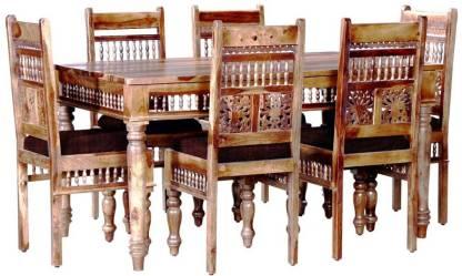 APRODZ Sheesham Wood Solid Wood 6 Seater Dining Set