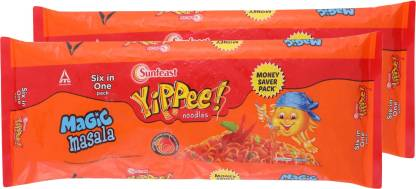Yippee Magic Masala Instant Noodles Vegetarian  (2 x 360 g)
