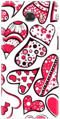 Smutty Back Cover for Samsung Galaxy C7 Pro, SM-C7010, SM-C701F, SM-C7018 - Hearts Print