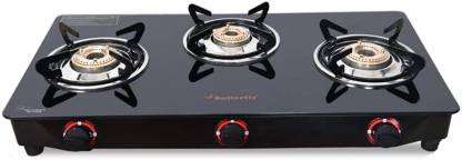 Butterfly Trio 3 Burner Glass Manual Gas Stove