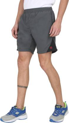 Forest Club Color Block Men Grey Sports Shorts