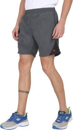 Forest Club Color Block Men Grey Sports Shorts