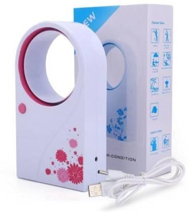 BAGATELLE Mini Bladeless Portable Fan No Leaf Air Conditioner USB Fan 10 mm Table Fan