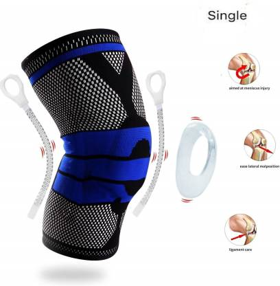 Skating Skiing Knee Guard Support Brace Compression Sleeve with Gel Pad