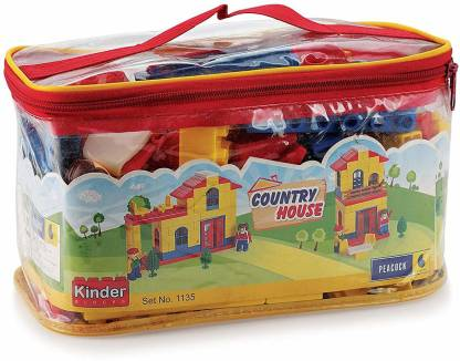 Peacock Kinder Blocks Country House-(Country Side Blocks) by Party Shopping