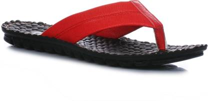 Men Red Flats Sandal