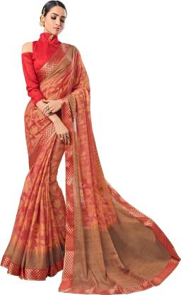 Printed Fashion Chiffon Saree  (Pink)