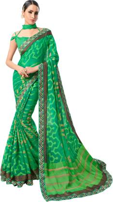 Self Design Fashion Chiffon Saree  (Green)