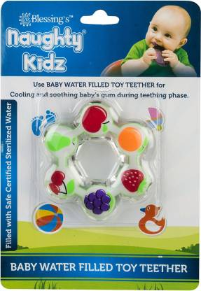 naughty kidz PREMIUM WATER FILLED TOY TEETHER STAR SHAPE WITH RING KEY TEETHER Teether