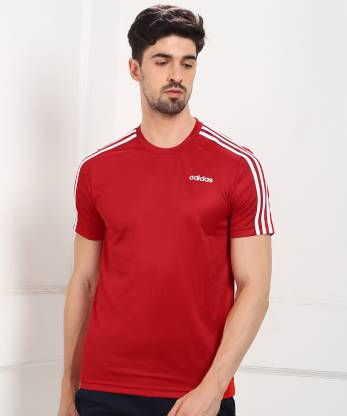 ADIDAS Sporty Men Round Neck Red T-Shirt