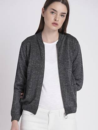 Chemistry Solid Casual Women Grey Sweater