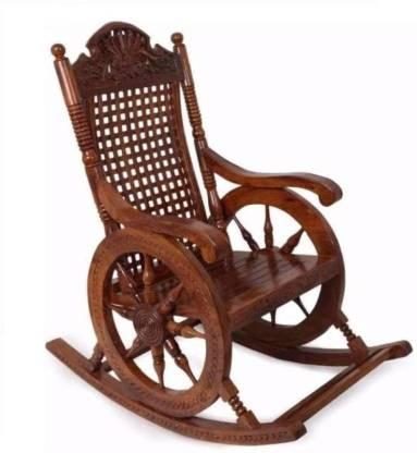 JAI DURGA Solid Wood 1 Seater Rocking Chairs