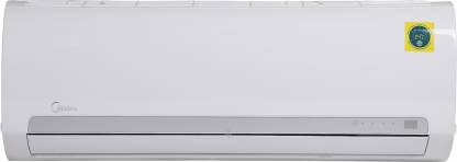 Midea 1 Ton 3 Star Split AC - White (12K 3 STAR SANTIS PRO CLS R32(MF001)/FIXED SPEED R32 ODU(MF001), Copper Condenser)