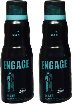 ENgAgE MATE (PACK OF 2) Deodorant Spray  -  For Men
