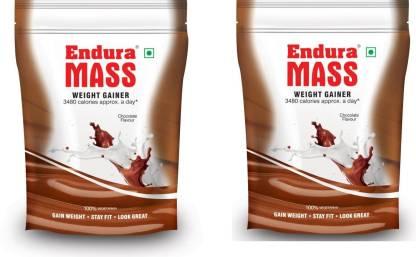 Endura Mass 400 g. Chocolate Pack of 2 Weight Gainers/Mass Gainers