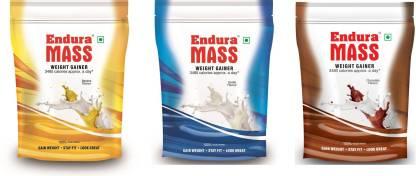 Endura Mass 400 g. Chocolate Banana vanilla Weight Gainers/Mass Gainers