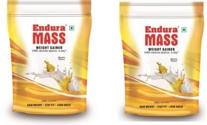Endura 400 gm Banana Pack of 2 Weight Gainers/Mass Gainers