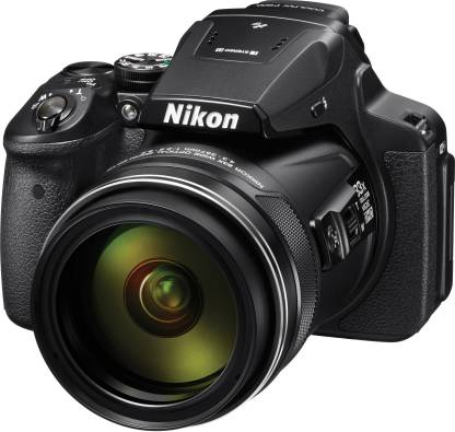 NIKON Coolpix P900 16.0MP Point and Shoot Camera (Black) with 83x Optical Zoom, Card and Camera Case