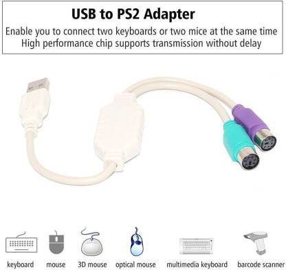 Ever Forever USB To Dual PS2 Converter/ Adapter USB Adapter