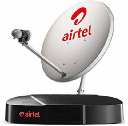 Airtel Digital TV HD Set top Box 1 month Pack with HD Set Top Box