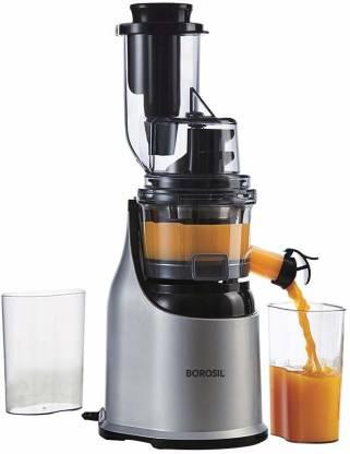 BOROSIL PRO Health Pro Cold Press Slow Juicer 200 Juicer (2 Jars, Silver)