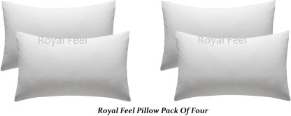 Royal Feel Polyester Fibre Striped Baby Pillow Pack of 4