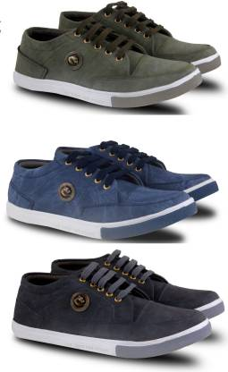 Fabbmate  Combo of Men's Casual Shoes.(Pack of 3) Sneakers For Men