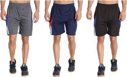 M.R.D. Solid Men & Women Dark Blue, Black, Grey Sports Shorts