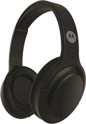 Motorola HP-BT-Moto-Escape 200 with Google Assistant Bluetooth Headset with Mic(Black, Over the Ear)