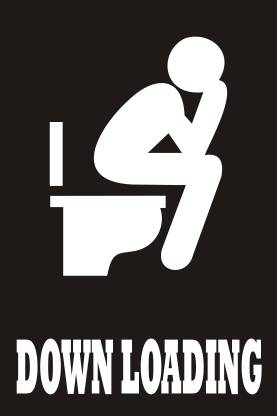 Funny- Bathroom Poster - Decorative wall Poster -High Resolution 300 GSM Paper Print (18 inch X 12 inch) Paper Print