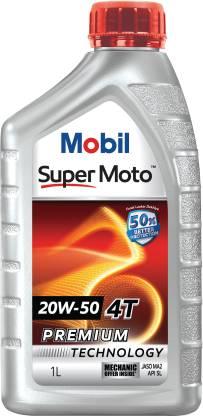 Mobil Super Moto 20W-50 Engine Oil  (1 L)