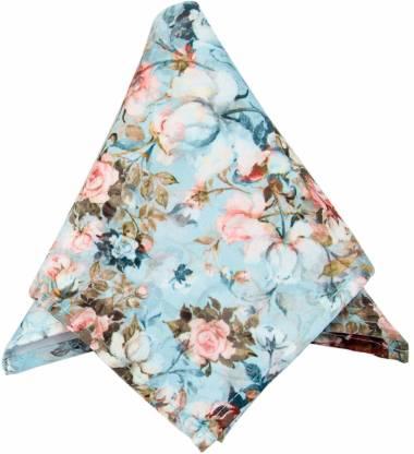 To The Nines Floral Print Satin Blend Pocket Square
