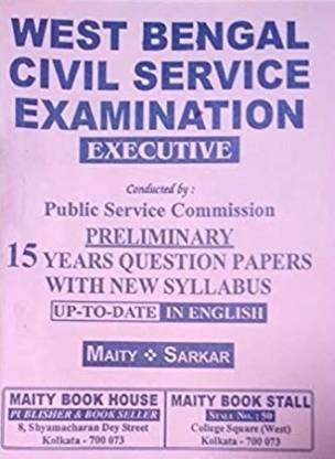 WBCS Prelims 15 Years Question Papers With New Syllabus In English