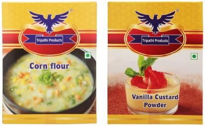 Tripathi Products Combo Pack of Corn flour and Custard Powder 100 g Self Rising Flour Powder