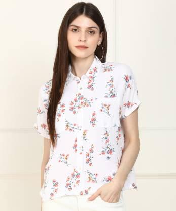 Wrangler Women Floral Print Casual Multicolor Shirt